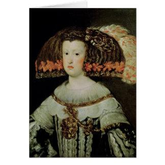 Portrait of Queen Maria Anna  of Spain Card