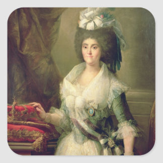 Portrait of Queen Maria Luisa Square Sticker