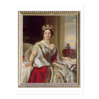 Portrait of Queen Victoria (1819-1901) 1859 (oil o Postcard