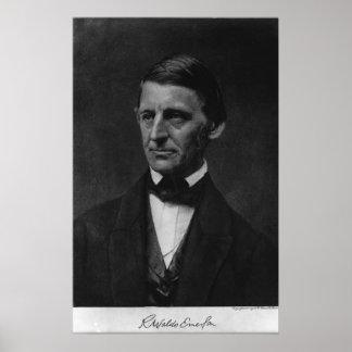 Portrait of Ralph Waldo Emerson in 1901 Poster