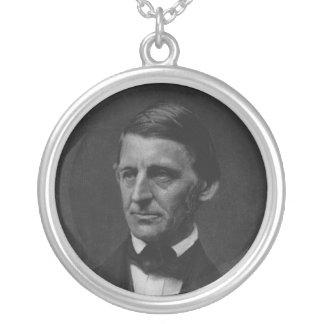 Portrait of Ralph Waldo Emerson in 1901 Round Pendant Necklace
