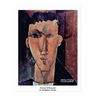 Portrait Of Raymond By Modigliani Amedeo Postcard