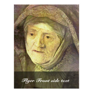 Portrait Of Rembrandt'S Mother Oval Detail Personalized Flyer
