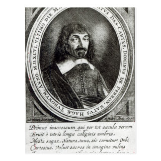 Portrait of Rene Descartes, 1644 Postcard