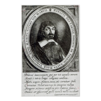 Portrait of Rene Descartes, 1644 Poster