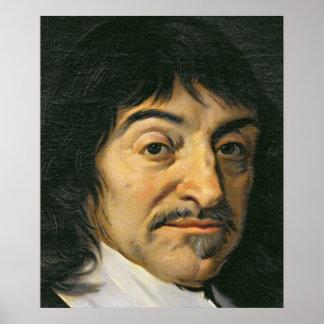 Portrait of Rene Descartes  c.1649 Poster