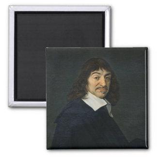 Portrait of Rene Descartes  c.1649 Square Magnet