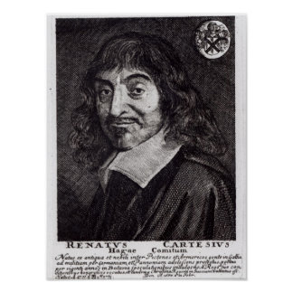 Portrait of Rene Descartes Poster