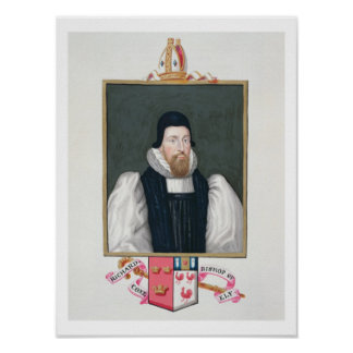 Portrait of Richard Cox (1500-81) Bishop of Ely fr Poster