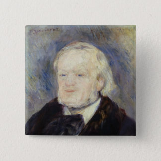 Portrait of Richard Wagner  1882 15 Cm Square Badge