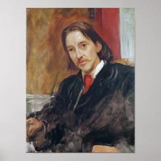 Portrait of Robert Louis Stevenson  1886 Poster