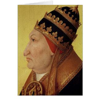Portrait of Rodrigo Borgia  Pope Alexander VI Card