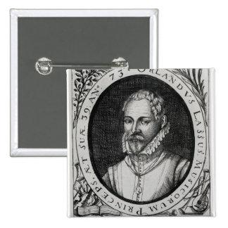 Portrait of Roland de Lassus 15 Cm Square Badge