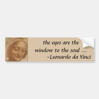 Portrait of Saint Anne by Leonardo da Vinci Bumper Sticker