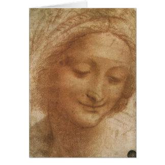 Portrait of Saint Anne by Leonardo da Vinci Card