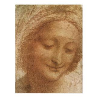 Portrait of Saint Anne by Leonardo da Vinci Postcard