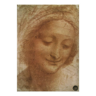 Portrait of Saint Anne by Leonardo da Vinci Poster