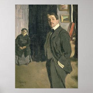 Portrait of Sergei Pavlovich Diaghilev Posters