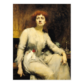 Portrait of Severine  1893 Postcard