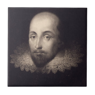 """Portrait of Shakespeare"" ceramic tile"