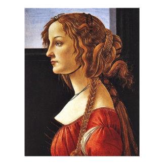 Portrait Of Simonetta Vespucci By Botticelli Sandr 21.5 Cm X 28 Cm Flyer