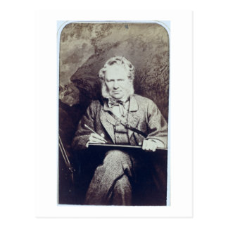 Portrait of Sir Edwin Landseer (1802-73) (albumen Postcard