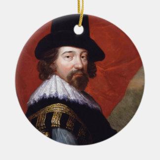 Portrait of Sir Francis Bacon Viscount St Alban Ceramic Ornament