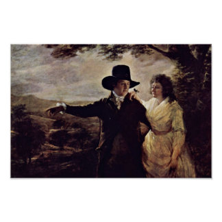 Portrait Of Sir John And Lady Clerk By Sir Henry Poster