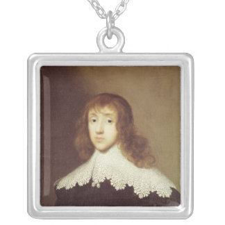 Portrait of Sir Ralph Verney Silver Plated Necklace
