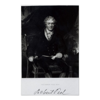 Portrait of Sir Robert Peel Poster