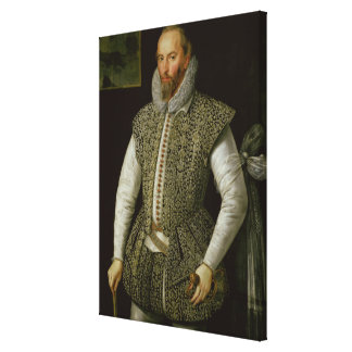 Portrait of Sir Walter Raleigh, 1598 Canvas Print