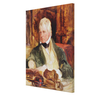 Portrait of Sir Walter Scott Canvas Print
