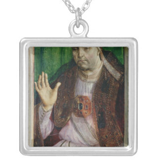 Portrait of Sixtus IV  c.1475 Silver Plated Necklace