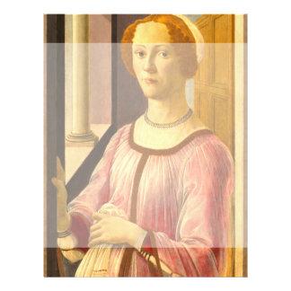 Portrait of Smeralda Bandinelli by Botticelli Flyer Design