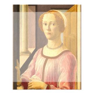 Portrait of Smeralda Bandinelli by Botticelli Flyer