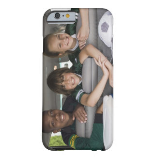 Portrait of smiling children in car barely there iPhone 6 case