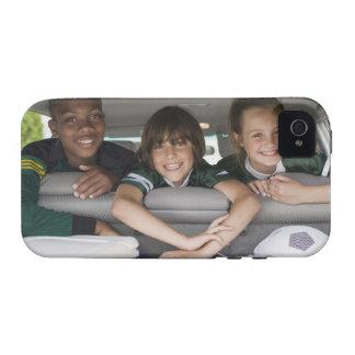 Portrait of smiling children in car Case-Mate iPhone 4 cases