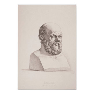 Portrait of Socrates Poster