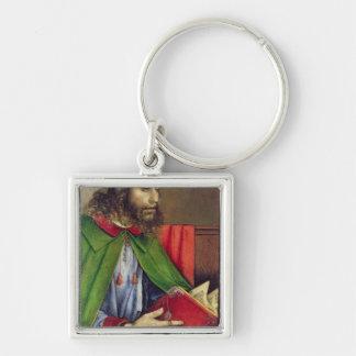 Portrait of Solon  c.1475 Silver-Colored Square Key Ring
