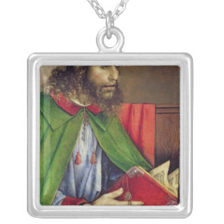 Portrait of Solon  c.1475 Silver Plated Necklace