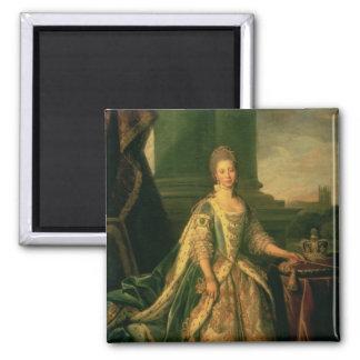 Portrait of Sophie Charlotte Square Magnet
