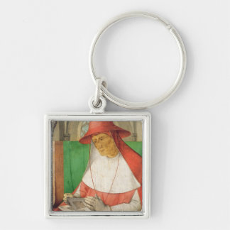 Portrait of St. Jerome  c.1475 Silver-Colored Square Key Ring