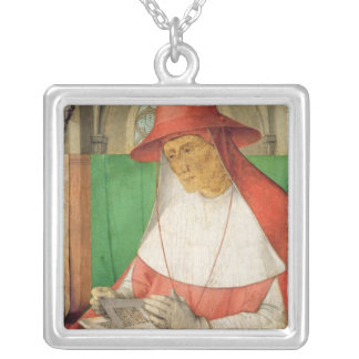 Portrait of St. Jerome  c.1475 Silver Plated Necklace
