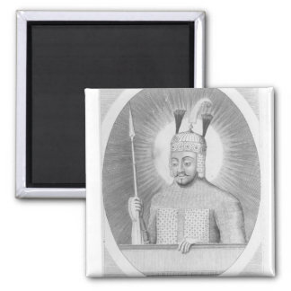 Portrait of Tamerlane the Great Square Magnet