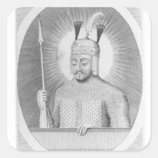 Portrait of Tamerlane the Great Square Sticker