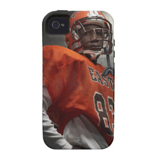 Portrait of teenage (14-15) American football Case-Mate iPhone 4 Cover