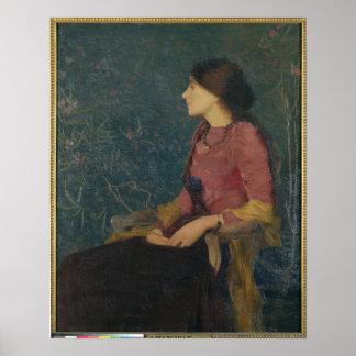 Portrait of Thadee-Caroline Jacquet Poster