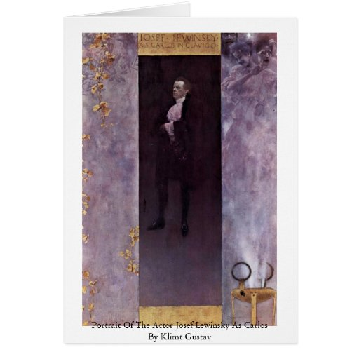 Portrait Of The Actor Josef Lewinsky As Carlos Greeting Card