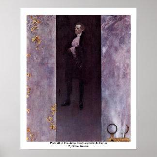 Portrait Of The Actor Josef Lewinsky As Carlos Print