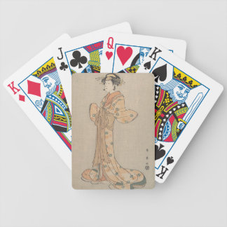 Portrait of the Actor Nakamura Yasio as an Oiran Bicycle Playing Cards